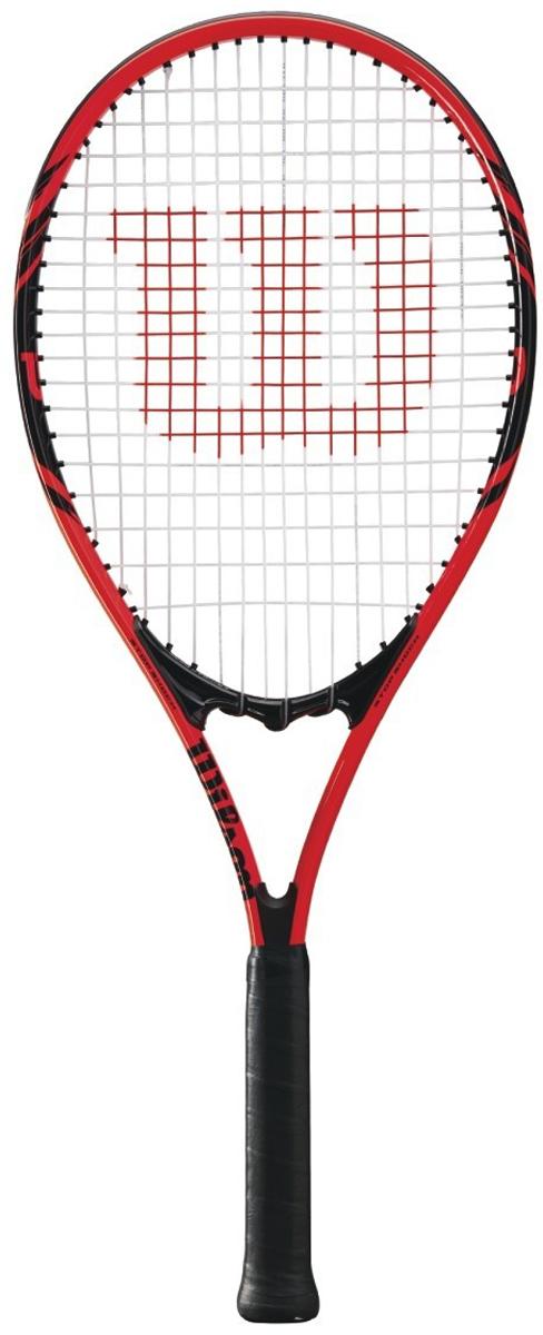 Ракетка теннисная Wilson Federer Adult W/O Cvr Tns Rkt 3WRT30480U3Идеальная легкая ракетка Wilson Federer Adult W/O Cvr Tns Rkt 3 для начинающих теннисистов, которые хотят получить первые представление об уникальной и любимой миллионами игре - Теннис. Дизайн, разработанный совместно с Роджером Федерером, - Ваше несомненное преимущество на корте.- Технология Volcanic Frame™ для мощности и стабильности. - Взрывная сила удара.- Технология Stop Shock pads™ для улучшенного комфорта.