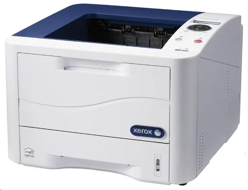 Xerox Phaser 3320DNI лазерный принтер3320DNIПринтер Xerox Phaser 3320DNI обладает полным набором функций, необходимых для современной офисной среды:скорость печати 35 страниц A4 в минуту, высокая максимальная нагрузка, встроенный дуплексный модуль,встроенная сетевая карта и встроенный беспроводной сетевой интерфейс. Этот набор характеристик делаетPhaser 3320DNI удобным устройством как для средних рабочих групп, так и малых, нуждающихся в больших объемахпечати.Принтер Phaser 3320DNI позволяет печатать со скоростью 35 страниц А4 в минуту в симплексном режиме,максимальная месячная нагрузка составляет до 80 000 отпечатков в месяц, что обеспечивает высокуюнадежность аппарата и является одним из лучших показателей для устройств данного класса. Максимальноеразрешение печати составляет 1200x1200 dpi что обеспечивает традиционное высокое качество печатиаппаратов Xerox.Встроенный контроллер печати также обладает высокими характеристиками, позволяющими принтеру быстрообрабатывать и выводить на печать даже крупные потоки заданий: процессор с тактовой частотой 600 МГц, 128 Мбоперативной памяти в стандартной конфигурации с возможностью расширения до 384 МБ повышаютэффективность и скорость выполнения повседневных задач печати.Запас бумаги варьируется от 300 листов в стандартной конфигурации до 820 листов при использованиидополнительного лотка, что позволяет минимизировать время пользователей, необходимое на обслуживаниеаппарата. Допустимый диапазон плотности печатных материалов находится в диапазоне от 60 до 220 г/м2 чтопозволяет печатать даже на плотных материалах.Отдельно следует отметить встроенный беспроводной сетевой интерфейс Wi-Fi, делающий принтерпривлекательным для современных офисов, использующих беспроводные технологии связи. Интеграция принтерав существующую офисную инфраструктуру в этом случае будет простой и удобной: нет необходимости впроложении дополнительных проводов, снижаются временные затраты IT-служб компании.