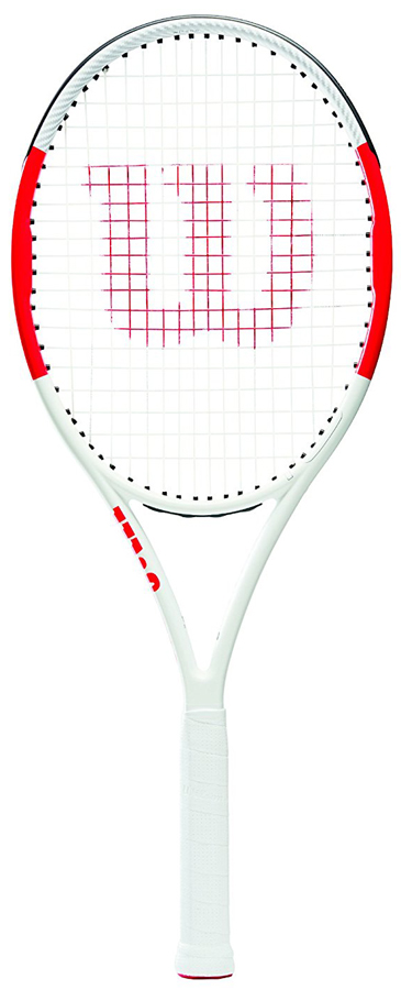 Ракетка теннисная Wilson Six.One Lite 102 Rkt W/O Cvr 2WRT73660U2Скорее всего, это ваша первая взрослая ракетка, а уникальное сочетание веса и ее игровые характеристики, позволяют оставаться 6.1 Lite 102 столь популярной в теннисном мире. Ультра легкая ракетка Six.One Lite 102 благодаря увеличенному размеру головки ракетки и смягченному ударному пятну, способствует большей маневренности и подвижности. А технология Parallel Drilling поддерживает стабильность и слаженность игры.- Ультра легкий обод обеспечивает идеальную маневренность и скорость замаха. - Технология Parallel Drilling обеспечивает точность попадания.- Технология Double Holes увеличивает гибкость струнной поверхности. - Технология BLX заключается в построении дружной системы строения обода ракетки, громмета и гриппа, чтобы обеспечить идеальные ощущения.