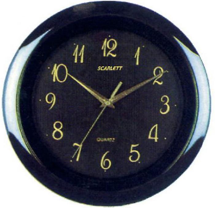 Scarlett SC-44R часы настенныеSC-44RЭлемент питания: тип АА 1.5V Период работы от одного элемента: 12 месяцев Относительная влажность помещения от 30% до 80% Температура: от 1°С до 45°С