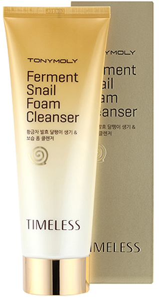 Tony Moly Пенка для умывания с ферментированным экстрактом улитки Timeless Ferment Snail Foam Cleanser, 150 мл