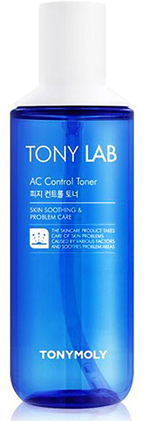 Tony Moly Тоник для ухода за кожей склонной к жирности и появлению акне Tony Lab AC Control Toner, 180 мл спонж tony moly water latex free sponge 1 шт