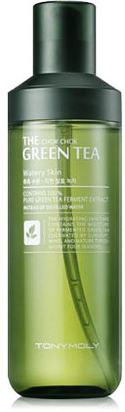 Tony Moly Лосьон с экстрактом зеленого чая Chok Chok Green Tea Watery Skin, 180 млTM-679Предназначено для ухода за жирной и комбинированной кожей. Регулирует выработку кожного жира, кожа становится матовой и не блестит. Сужает поры. Приятно охлаждает кожу.