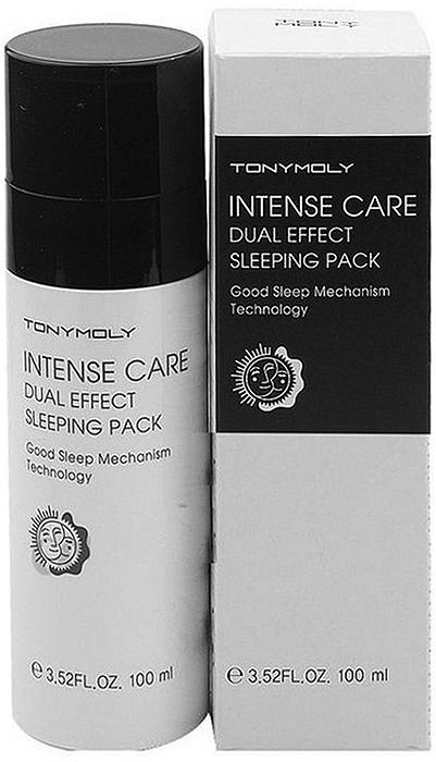 Tony Moly Ночная отбеливающая маска для лица Intense Care Dual Effect Sleeping Pack, 100 мл маска tony moly make hd argan rose treatment hair steam pack 1 шт