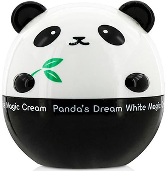 Tony Moly Осветляющий крем для лица Panda's Dream White Magic Cream, 50 млTM746Осветляющий крем с мощными депигментирующими компонентами регулирует выработку меланина и эффективно борется с появлением пигментных пятен, а цвет лица становится ровным, ярким и безупречным. Он устраняет темные пятна на лице, появившиеся из-за воздействия УФ-лучей. Крем эффективно справляется с последствиями действия ультрафиолета и предотвращает повторное появление, а также останавливая дальнейшее развитие, расширение и потемнение пятен. Активные компоненты, которые входят в состав крема, оказывают омолаживающее действие. Замедляют старение и возвращают тусклой коже яркость и равномерный цвет лица. Главный действующий компонент - ниацинамид, который значительно улучшает внешний вид кожи, осветляя возрастные пигментные пятна. Ниацинамид делает увядающую кожу ровнее, светлее, мягче и эластичнее. Восстанавливает кожный барьер и повышает сопротивляемость кожи негативным воздействиям окружающей среды, предотвращает фотостарение, уменьшает покраснения кожи. Масло Ши - компонент натурального происхождения. Великолепно смягчает, увлажняет и тонизирует кожу. Способствует регенерации клеток, оказывает anti-age эффект, а также защищает кожу от УФ-излучения. Экстракты бамбука и меда ускоряют обменные процессы в клетках кожи, смягчают и увлажняют кожу, улучшают цвет лица и тургор кожи. Регулярное применение осветляющего крема позволит устранить потемнения кожи, нейтрализовать желтизну, снять красноту. Выравнивая тон кожи, крем избавит вас от различной нежелательной пигментации, в том числе и от постакне.
