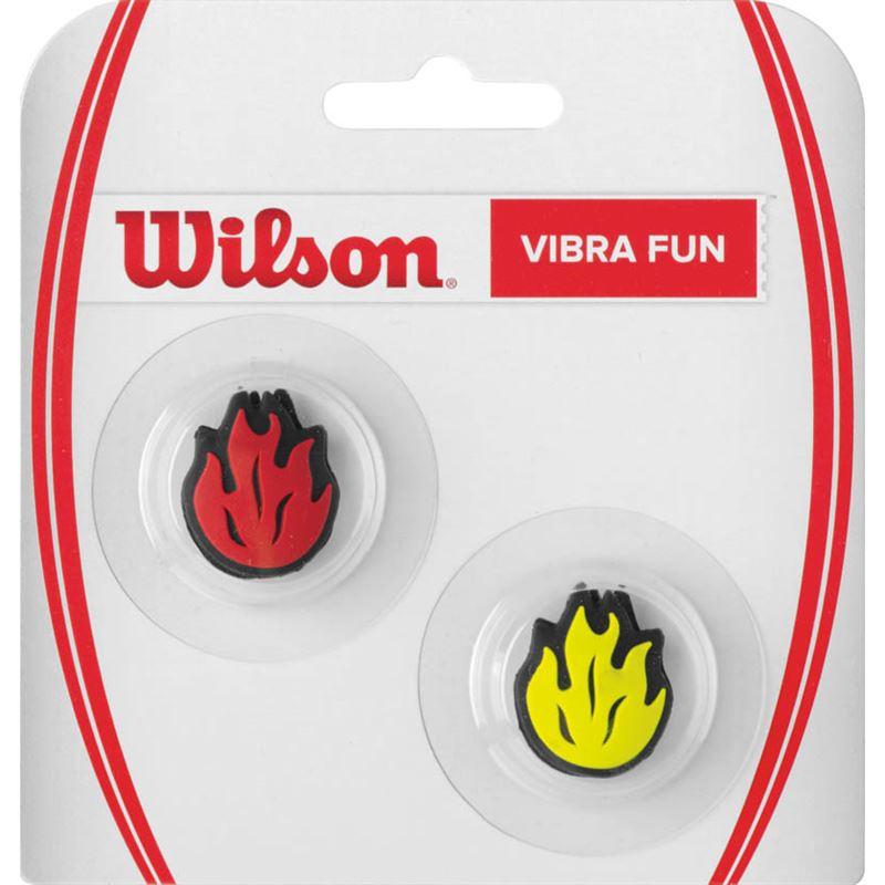 Виброгаситель для ракетки Wilson Vibra Fun Flames Rdye, 2 штWRZ537400Виброгаситель для ракетки Wilson Vibra Fun Flames Rdye предназначен для снижения вибрации, крепится на струны теннисных ракеток.Создай свое настроение на теннисном корте.В комплекте 2 шт.
