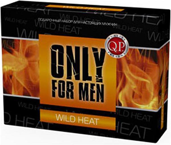 Q.P. Only for Men Wild Heat Косметический набор мужской: Гель для душа, 250 мл + Крем для бритья, 75 мл + Бальзам после бритья, 75 мл + Мочалка clinique набор aromatics black парфюмерная вода спрей 50 мл лосьон для тела 75 мл гель для душа 75 мл
