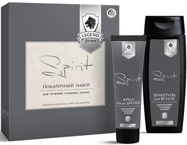 Q.P. Legend Spirit Косметический набор мужской: Шампунь, 250 мл + Крем после бритья, 100 мл шампунь кря кря дыня 200 мл