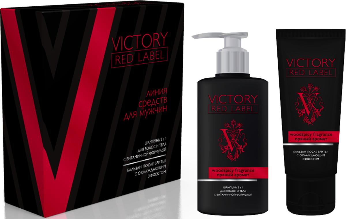 Q.P. Victory Red Label Woodspicy Fragrance: Шампунь 2в1, 320 мл + Бальзам после бритья охлаждающий, 100 мл078-06-870981В подарочном наборе Red label шампунь для волос и тела 2 в 1 с витаминной формулой 320 мл и бальзам после бритья с охлаждающим эффектом 100 мл с пряным ароматом.
