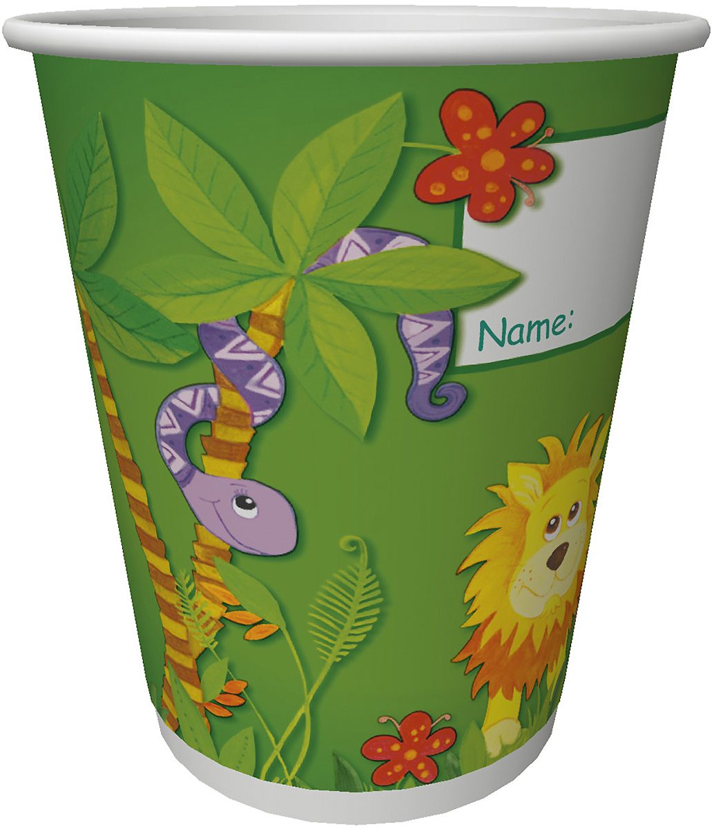Набор пластиковых стаканов Duni Джунгли, 200 мл, 10 шт170725Одноразовые бумажные стаканы Duni прекрасно подойдут для любого мероприятия, например для детских праздников, семейный пикников. Стаканы изготовлены из ламинированной плотной бумаги. Предназначены для подачи холодных и горячих напитков. Стаканы прекрасно держат свою первоначальную форму не смотря на высокую температуру напитков.