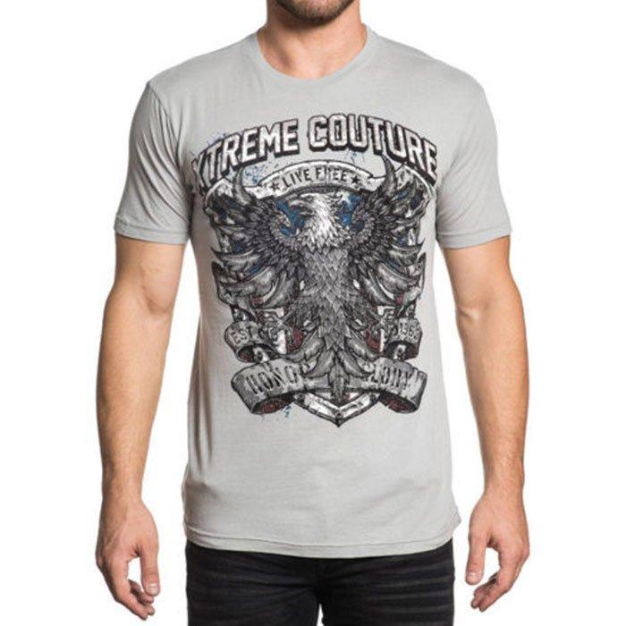 Футболка мужская Xtreme Couture Xtreme Patriot, цвет: серый. X1644. Размер XL (52) бейсболка affliction affliction af405cuaojw1