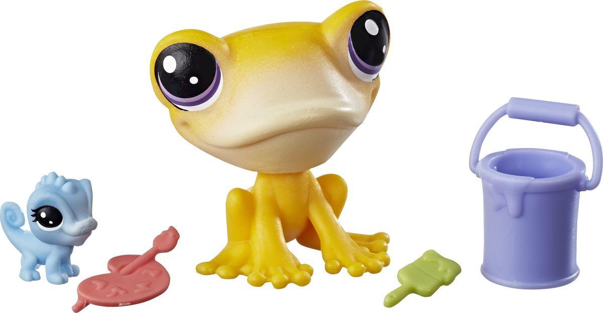 Littlest Pet Shop Набор фигурок Iggy Frogstein & Mitzi McLizard игровой набор hasbro littlest pet shop зверюшка с волшебным механизмом 4 предмета от 4 лет а5130