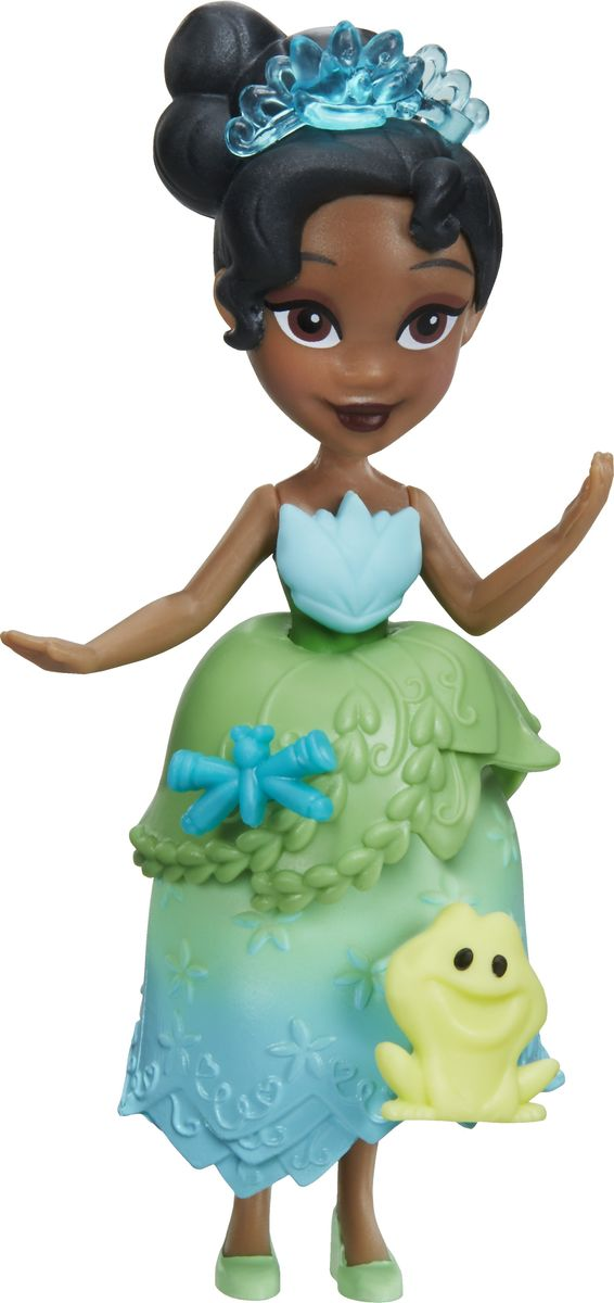 Disney Princess Мини-кукла Little Kingdom Tiana куклы disney princess модная кукла принцесса в в юбке с проявляющимся принтом в ассорт