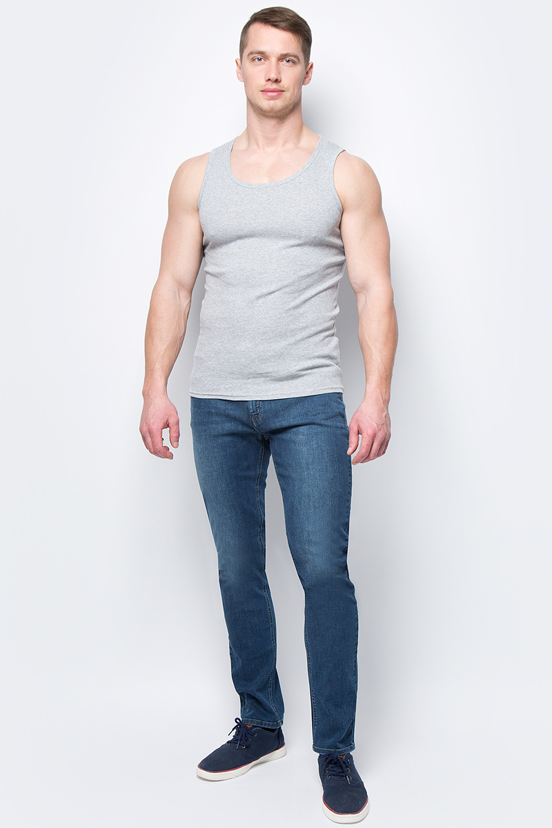 Майка мужская Sela, цвет: серый. Tslub-252/632-8131. Размер S (46)Tslub-252/632-8131