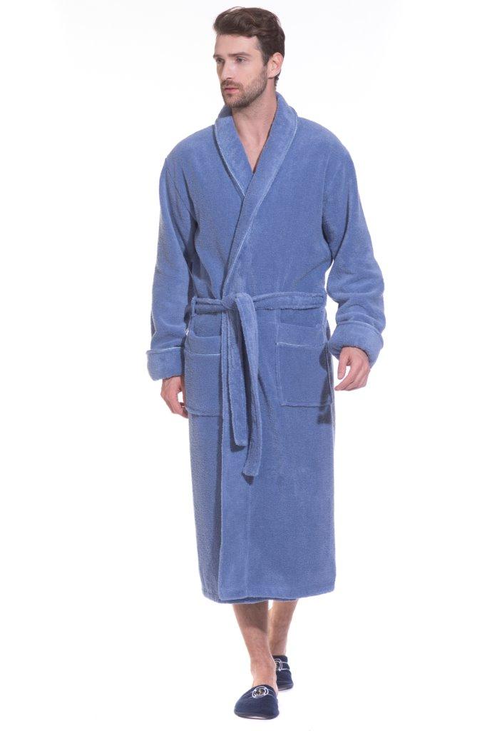 Купить Халат мужской Peche Monnaie Brutal, цвет: голубой. 920. Размер L (48/50)