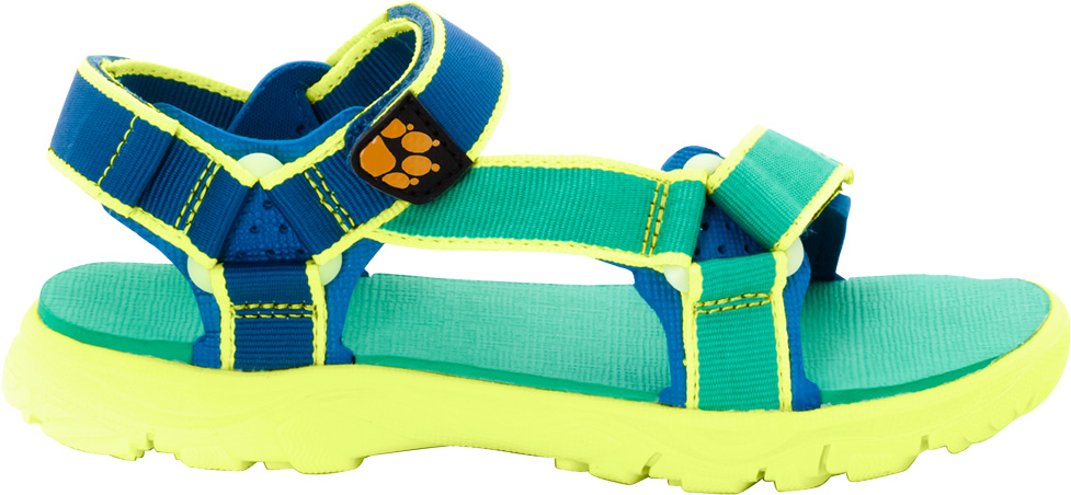 Сандалии для мальчика Jack Wolfskin Seven Seas 2, цвет: синий, зеленый. 4029951-4067. Размер 384029951-4067Просто - как раз, два, три. Сандалии Jack Wolfskin Seven Seas 2 - простые мягкие сандалии, ставшие настолько популярными, что уже в течение многих лет они являются неотъемлемой частью летней коллекции бренда. Теперь они доступны в модели, созданной специально для мальчиков. Сандалии Seven Seas 2 легкие, и незамысловатые - их очень просто надевать и снимать. Три застежки на липучке Velcro обеспечивают мгновенную и точную регулировку. Подошва с амортизацией на пятке отлично поддерживает ногу.