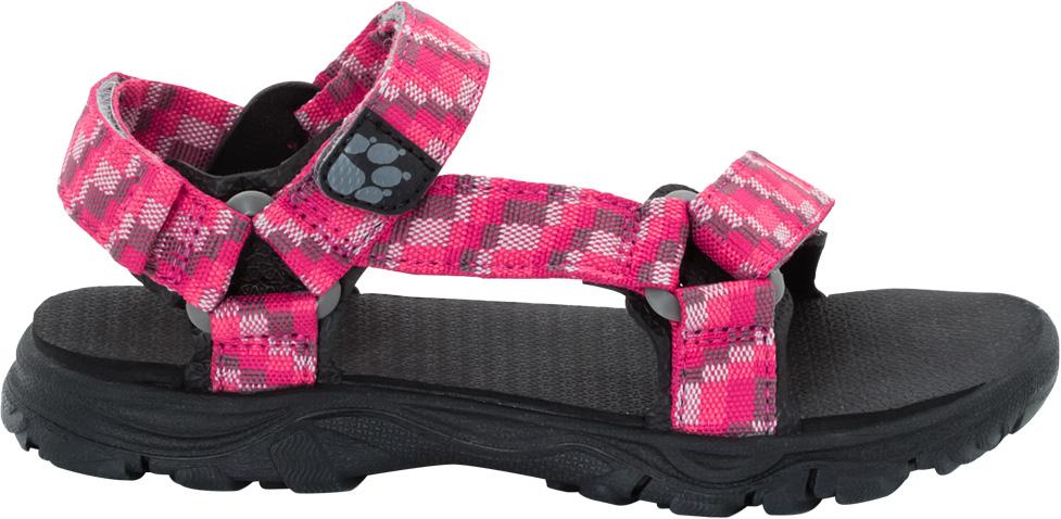 Сандалии для девочки Jack Wolfskin Seven Seas 2, цвет: розовый. 4029961-2145. Размер 394029961-2145Просто - как раз, два, три. Сандалии Jack Wolfskin Seven Seas 2 - простые мягкие сандалии, ставшие настолько популярными, что уже в течение многих лет они являются неотъемлемой частью летней коллекции бренда. Теперь они доступны в модели, созданной специально для девочек. Сандалии Seven Seas 2 легкие, и незамысловатые - их очень просто надевать и снимать. Три застежки на липучке Velcro обеспечивают мгновенную и точную регулировку. Подошва с амортизацией на пятке отлично поддерживает ногу.