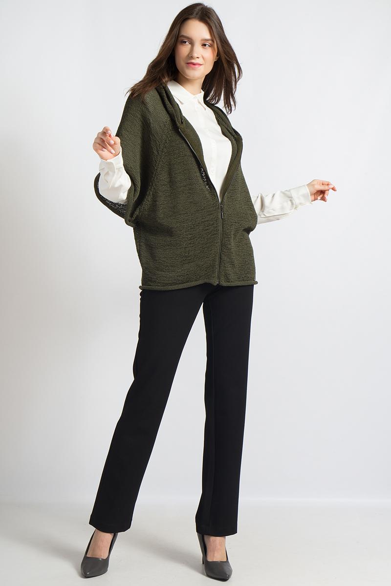 Кардигант женский Finn Flare, цвет: хаки. B18-12117. Размер L (48)B18-12117Оригинальный крой оверсайз придает этому вязаному кардигану от Finn Flare экстравагантный стиль. Длинная застежка-молния и капюшон, а также материал с содержанием хлопка позаботятся о комфорте. Благодаря оригинальным рукавам этот кардиган можно надевать поверх блузок, рубашек и джемперов и создавать многочисленные интересные образы.