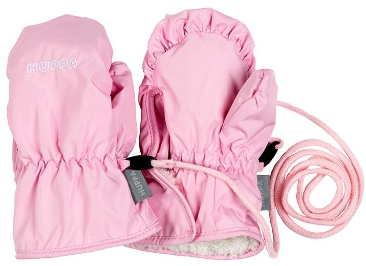 Варежки детские Huppa Nunnu 1, цвет: светло-розовый. 81710100-80003. Размер 281710100-80003Варежки для малышей Nunnu 1 выполнены из 100% полиэстера на ворсяной флисовой подкладке. Пыле влагозащищенность 5000. Ветронепроницаемые. Присутствуют светоотражательные детали.