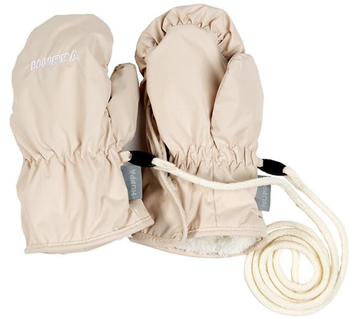 Варежки детские Huppa Fifi, цвет: светло-бежевый. 8106BASE-70061. Размер 28106BASE-70061Детские варежки Huppa Liina, изготовленные из высококачественного полиэстера, станут идеальным вариантом, для холодной зимней погоды. Варежки дополнены длинным шнурком.