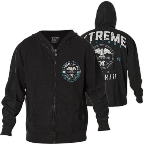 Толстовка мужская Xtreme Couture Knock Out Blow, цвет: черный. X1689. Размер XL (52)