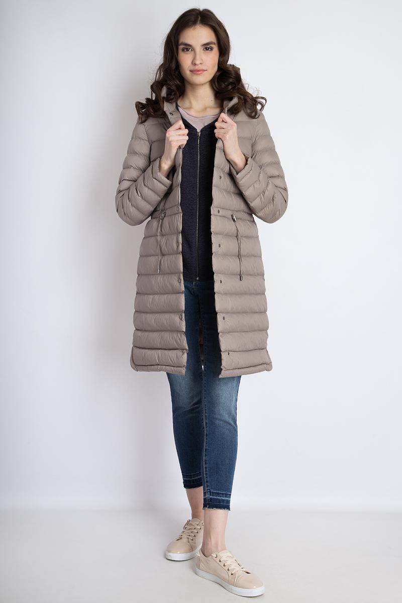 Пальто женское Finn Flare, цвет: светло-коричневый. B18-12015. Размер S (44)