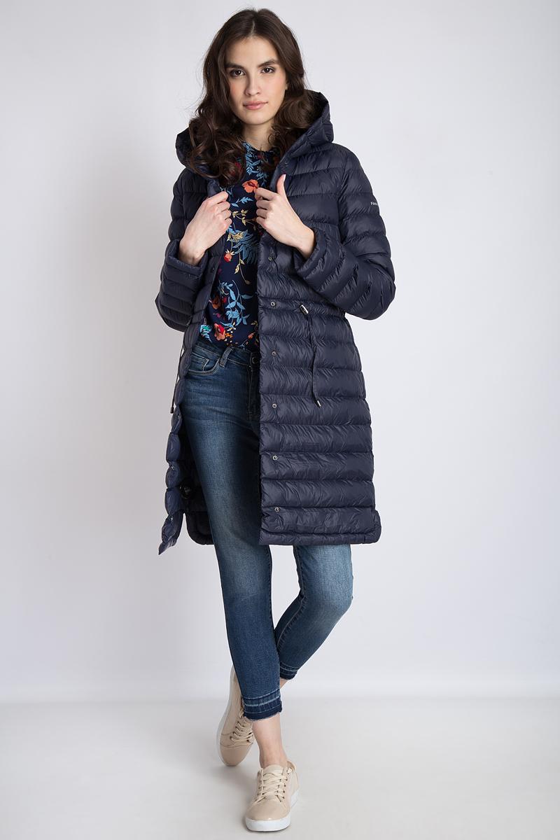 Пальто женское Finn Flare, цвет: темно-синий. B18-12015. Размер XL (50)