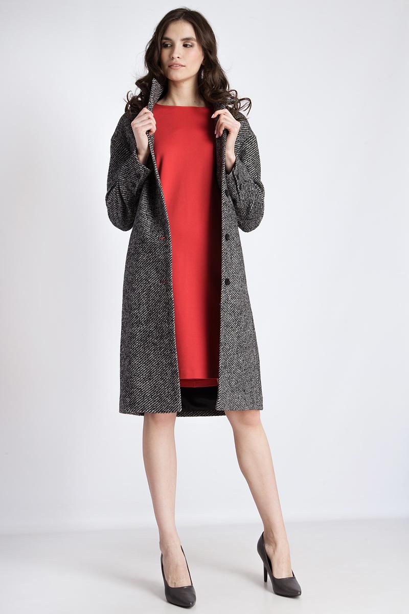 Пальто женское Finn Flare, цвет: черный. B18-32009. Размер L (48)