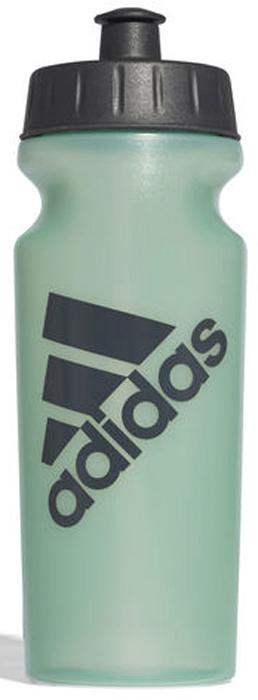 Бутылка для воды Adidas Perf Bottl, цвет: зеленый, 500 млCD6281Употребление достаточного количества жидкости — важная часть спортивного режима. Благодаря эргономичной форме эту бутылку удобно носить в руках. Модель украшена логотипом Adidas. Подходит к большинству велосипедных холдеров. Не содержит бисфенол А.