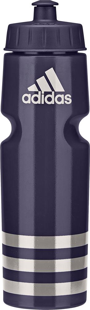 Спортивная бутылка, которая поможет утолить жажду, не отрываясь от тренировки. Модель не содержит бисфенол А и ее можно мыть в посудомоечной машине. Удобный клапан для питья во время выполнения упражнений. Бутылка оформлена логотипом adidas в верхней части и тремя полосками в нижней части. Компактная форма бутылки подходит для большинства велосипедных холдеров.