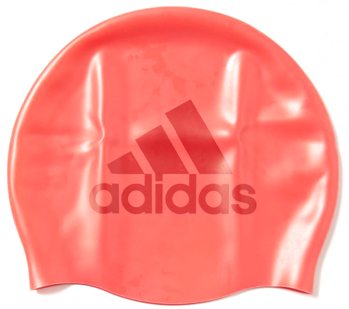 Шапочка для плавания adidas Sil Graphic Cap, цвет: красный