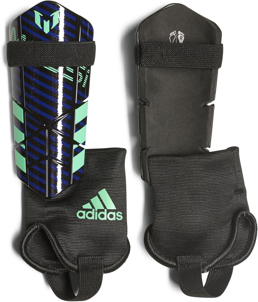 Щитки футбольные Adidas  Messi 10 Youth , цвет: синий, черный. Размер L - Командные виды спорта