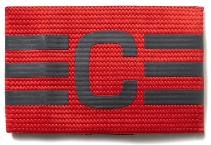 Повязка капитанская Adidas  FB Capt Armband , цвет: красный - Аксессуары для командных видов спорта