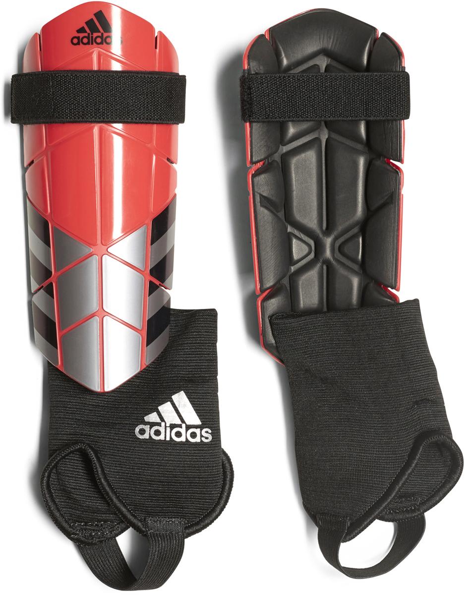 Щитки футбольные Adidas  Ghost Reflex , цвет: серебристый, коралловый. Размер XS - Командные виды спорта