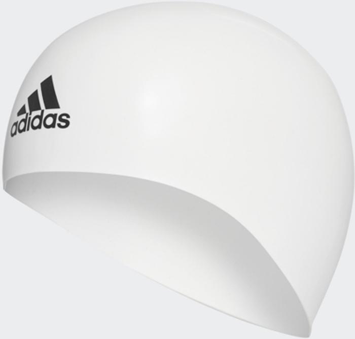 Шапочка для плавания Adidas Silicone 3D Cap, цвет: белый. Размер LCV7596Шапочка Adidas Silicone 3D Cap анатомической формы для соревнований. Плавательная шапочка выполнена из 100% премиального силикона. Идеально сидит на голове благодаря специальному эргономичному дизайну. Материал препятствует образованию складок. Различная плотность обеспечивает оптимальную обтекаемость и уменьшает сопротивление воды. Необходимый аксессуар для каждого спортсмена.Не мнется и не собирается в складки благодаря анатомической форме. Эргономичный дизайн для максимального комфорта. Разная плотность материала для большей обтекаемости. Идеальная посадка благодаря заданной форме. 100% силикон.