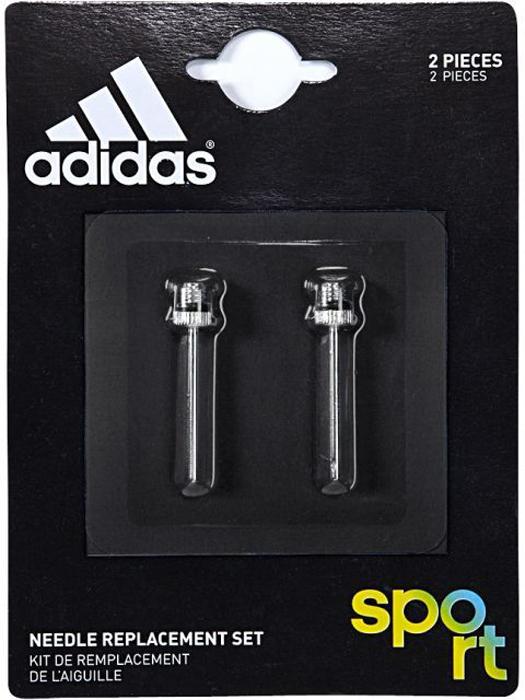 Насос для мяча Adidas Needle Repl Set, цвет: серебристыйG70908С этим набором сменных игл для насоса ты всегда сможешь быстро накачать футбольный мяч. Две иглы в комплекте.