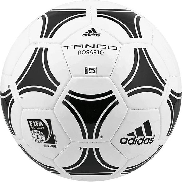 Мяч футбольный Adidas Tango Rosario, цвет: белый, черный. Размер 5656927Футбольный мяч Adidas отлично подойдет для тренировок или для отдыха. Он выполнен из прочных материалов и сшит вручную. Долговечен, имеет яркий окрас.