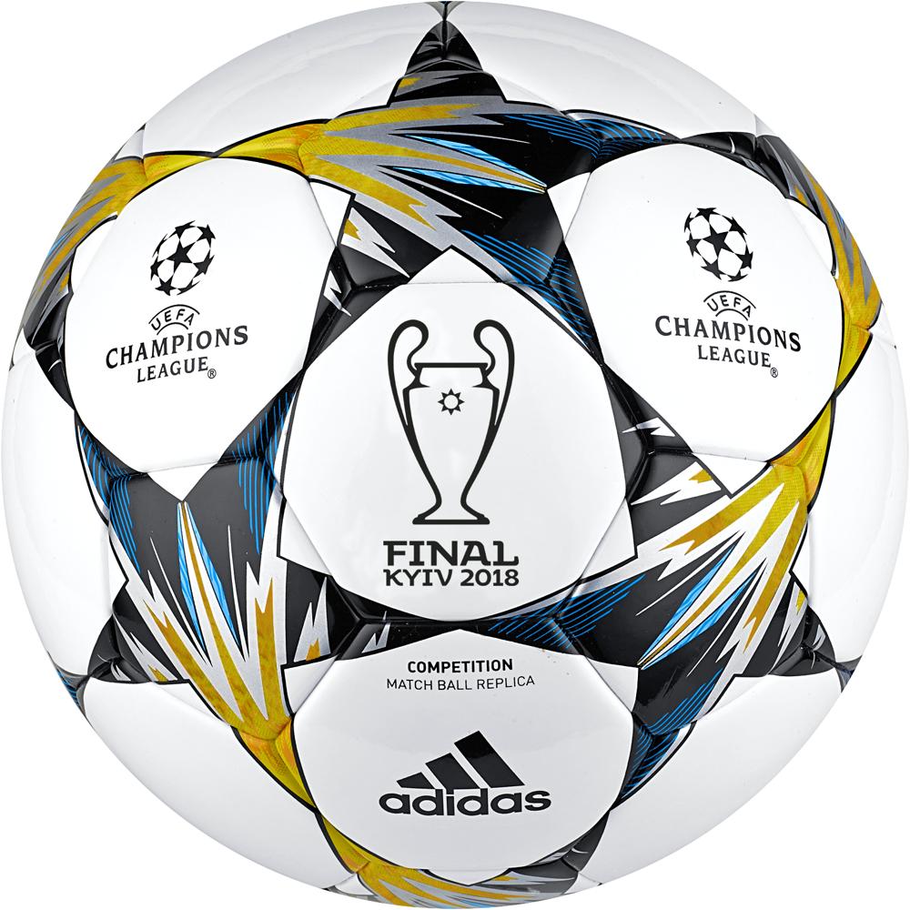 """Мяч футбольный Adidas """"Finalekiev Comp"""", цвет: белый, синий, желтый. Размер 4"""