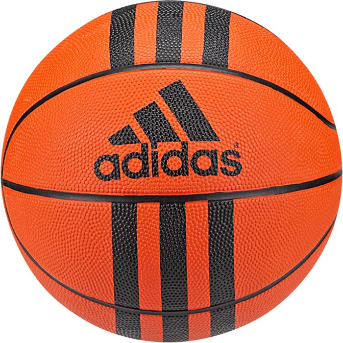 Мяч баскетбольный Adidas 3 Stripes Mini, цвет: оранжевый. Размер 3 мяч баскетбольный nike skills цвет пурпурный черный белый размер 3
