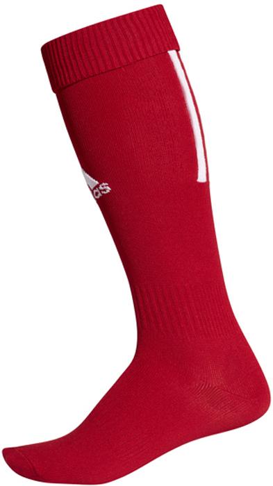 Гетры футбольные adidas Santos Sock 18, цвет: красный. CV8096. Размер 37/39CV8096Гетры футбольной коллекции всемирно известного бренда adidas. Гетры выполнены из высококачественного материала, спереди оформлены логотипом бренда, сзади – тремя полосками.