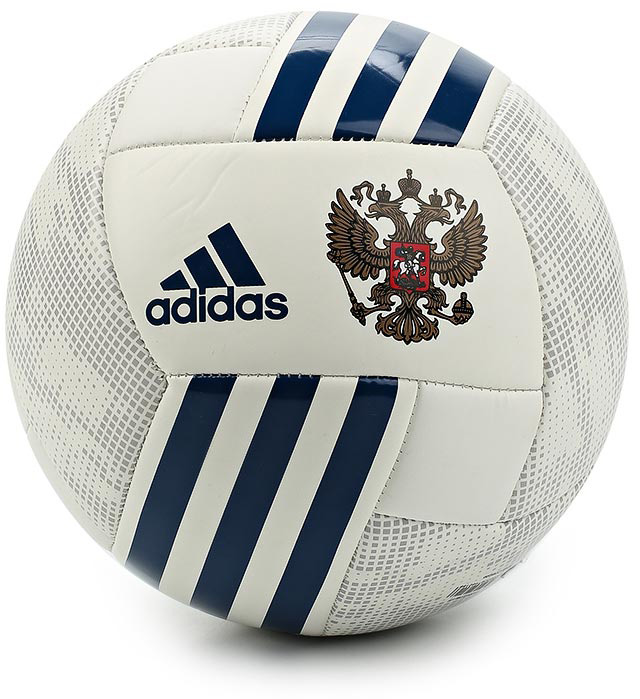 Мяч футбольный Adidas Russia Ball, цвет: белый, серый. Размер 4 ball white
