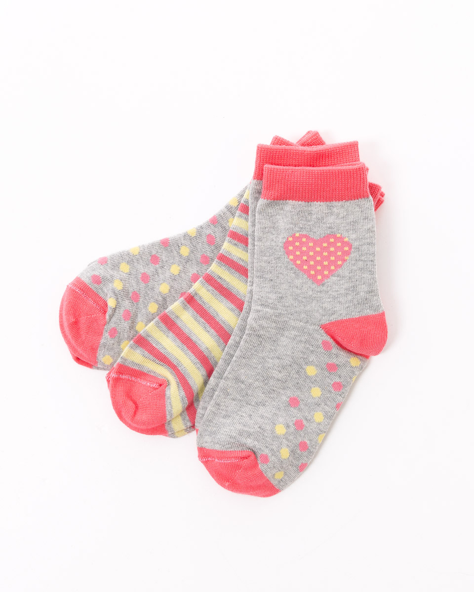 Носки для девочек Mark Formelle, цвет: коралловый, 3 пары. B3-6400A-556. Размер 28/30B3-6400A-556