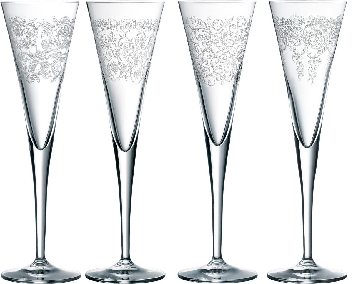 Набор фужеров для шампанского Nachtmann Delight, 165 мл, 4 шт nachtmann набор фужеров для мартини punk 230 мл 2 шт 99499 nachtmann