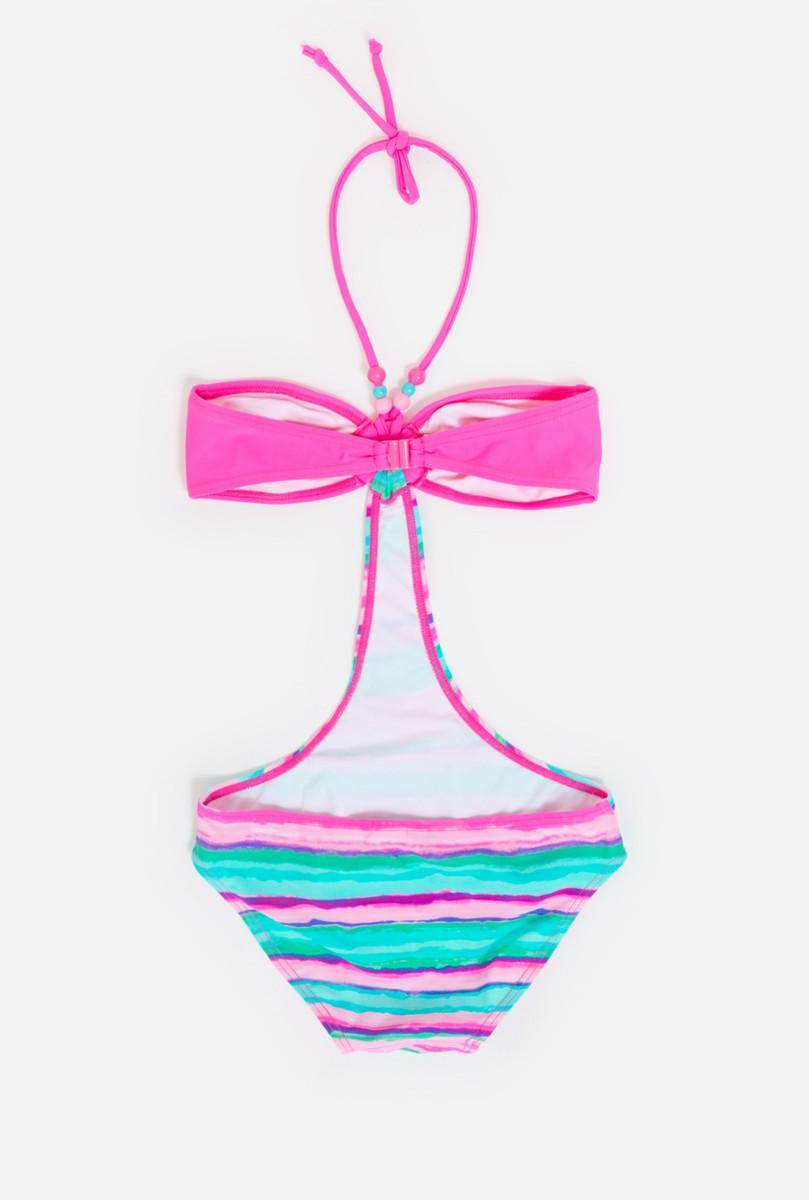 Купальник слитный для девочки infinity KIDS Wist, цвет:  голубой, розовый.  32214720009_8000.  Размер 146/152 infinity KIDS