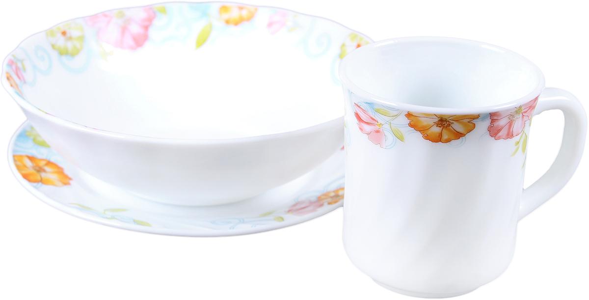 Набор столовой посуды Olaff, 3 предмета набор столовой посуды olaff эстелла