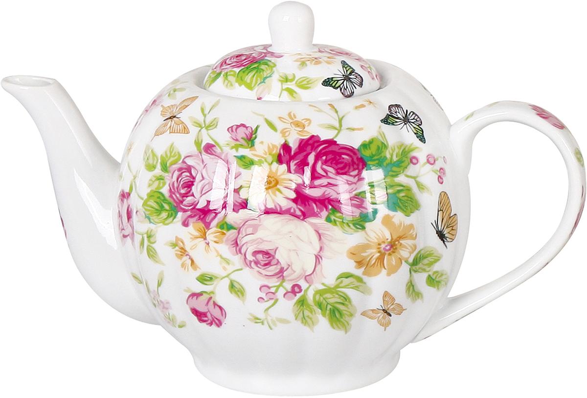 """Заварочный чайник Olaff """"Teapot"""" поможет вам в приготовлении вкусного и ароматного чая, а также станет украшением вашей кухни. Он изготовлен из фарфора и оформлен красочным изображением. Нежный рисунок придает чайнику особый шарм, чайник удобен в использовании и понравится каждому. Такой заварочный чайник станет приятным и практичным подарком на любой праздник."""