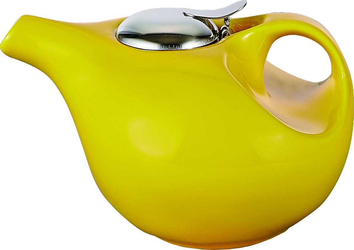 Чайник заварочный Elrington Глазурь, 850 мл. FJH-10451-A125FJH-10451-A125Глазурь. Желтый, ЧАЙНИКИ, чайник 850мл, упаковка - цвет.бокс