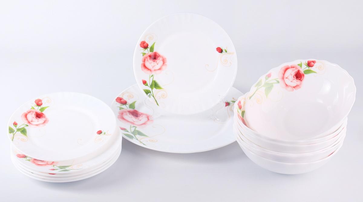 Набор столовой посуды Olaff Конфетти, 13 предметов набор посуды bekker deluxe из 13 ти предметов вк 2862