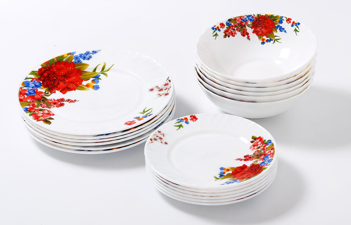 Набор столовой посуды Olaff Наранга, 18 предметов supra набор посуды из 5 предметов