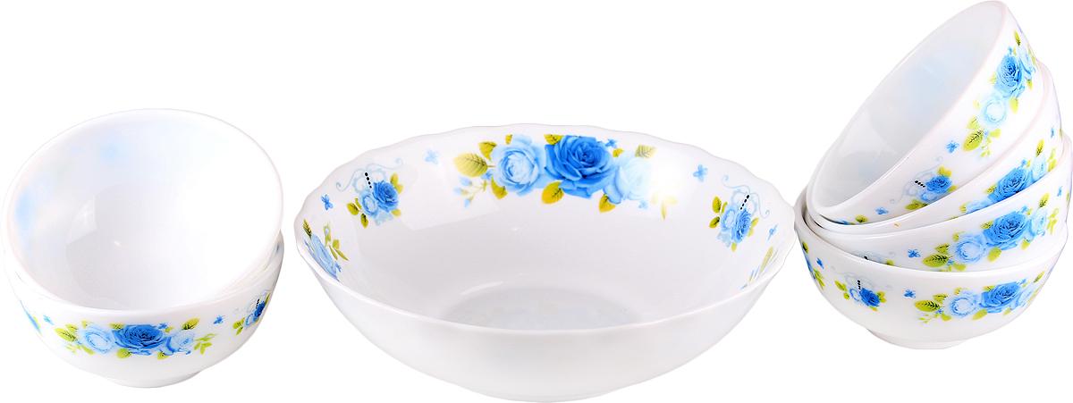 Набор столовой посуды Olaff Пасадена, 7 предметов. JY-R-7B-53JY-R-7B-53Пасадена, набор (7) 6 салатников 250мл + 1 салатник 1100мл, подарочная упаковка